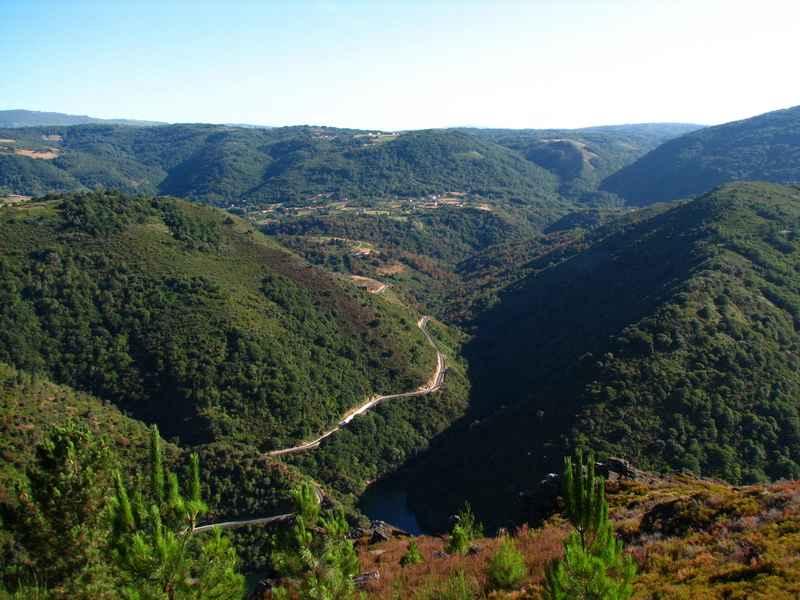 Miradores sobre el cañón del río Sil y del Miño